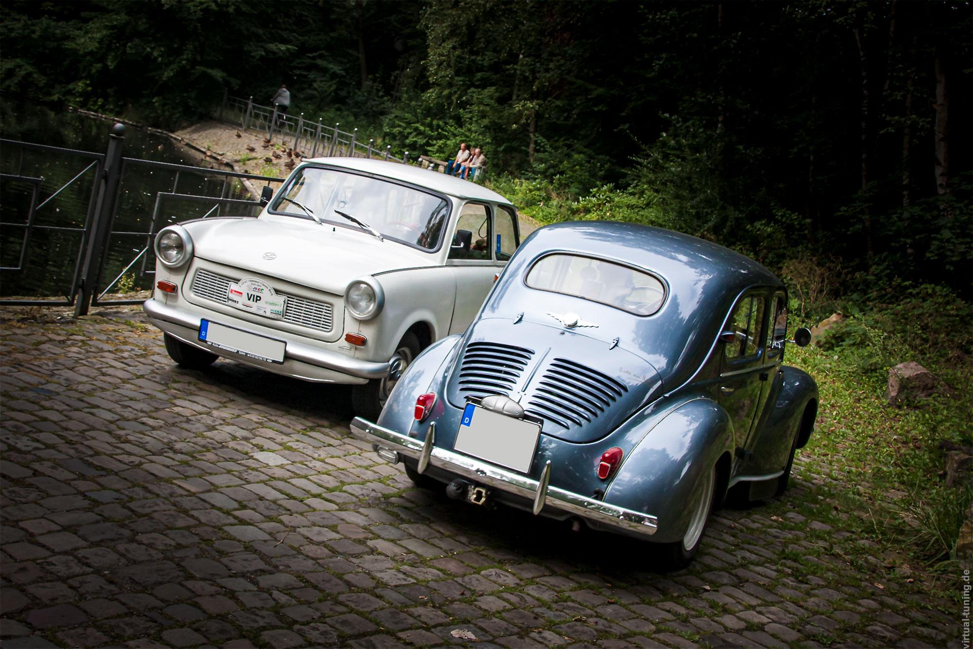 Trabant 601 meets Renault 4CV