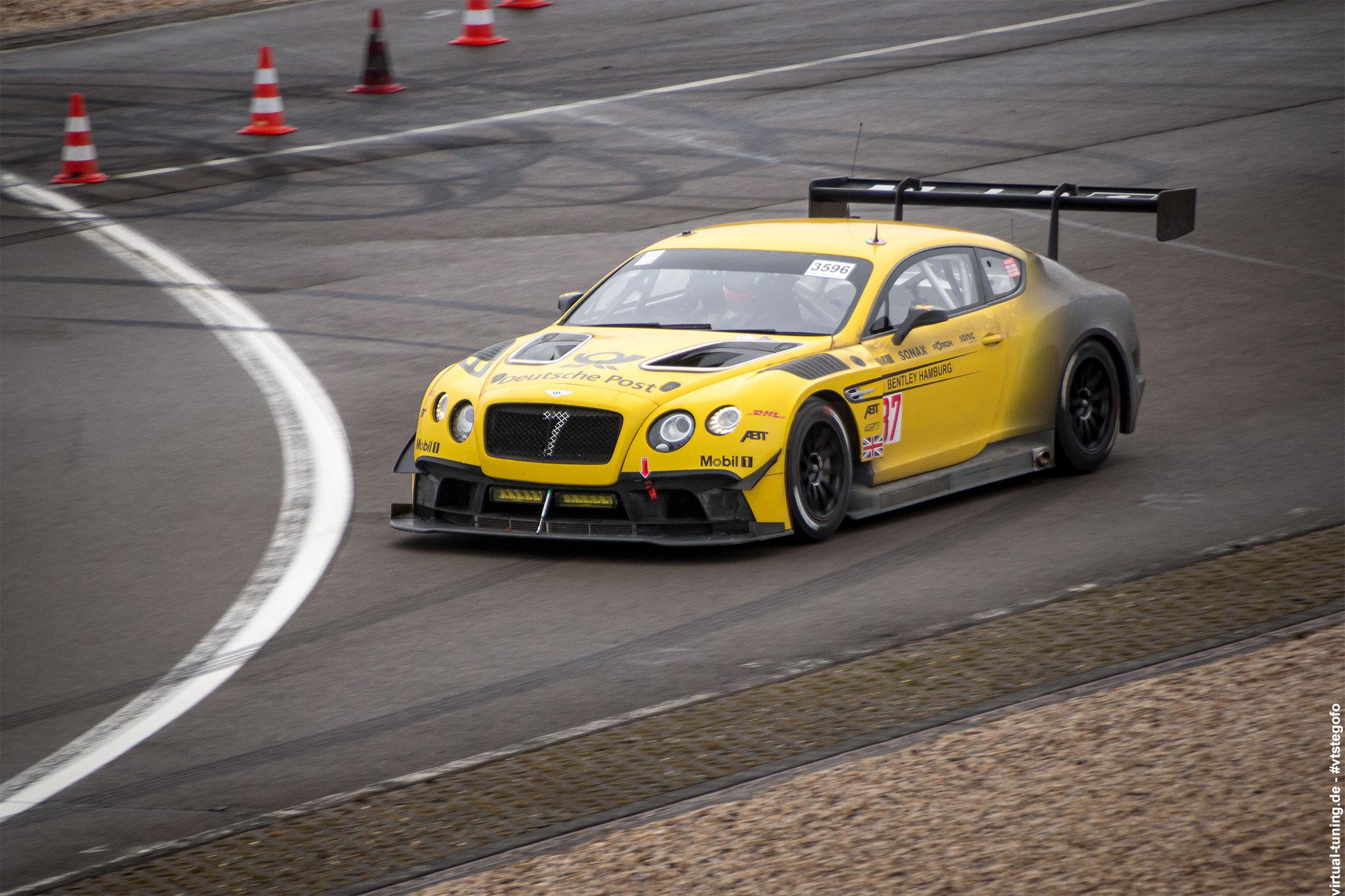 Bentley Continental GT3 - Test- und Einstellfahrten am Nürburgring (3.2016)