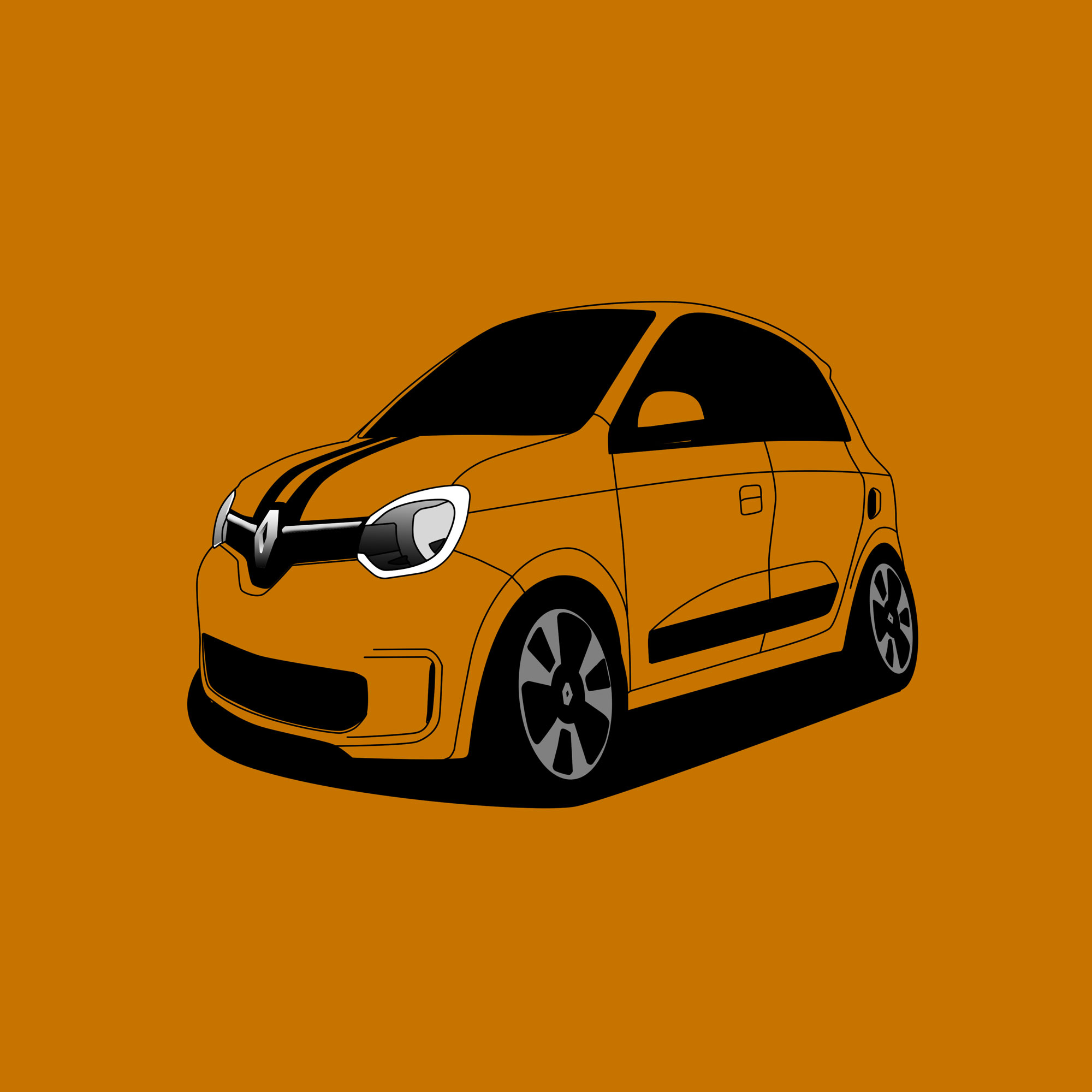 Renault Twingo 3 - Cartoon by vtstegofo