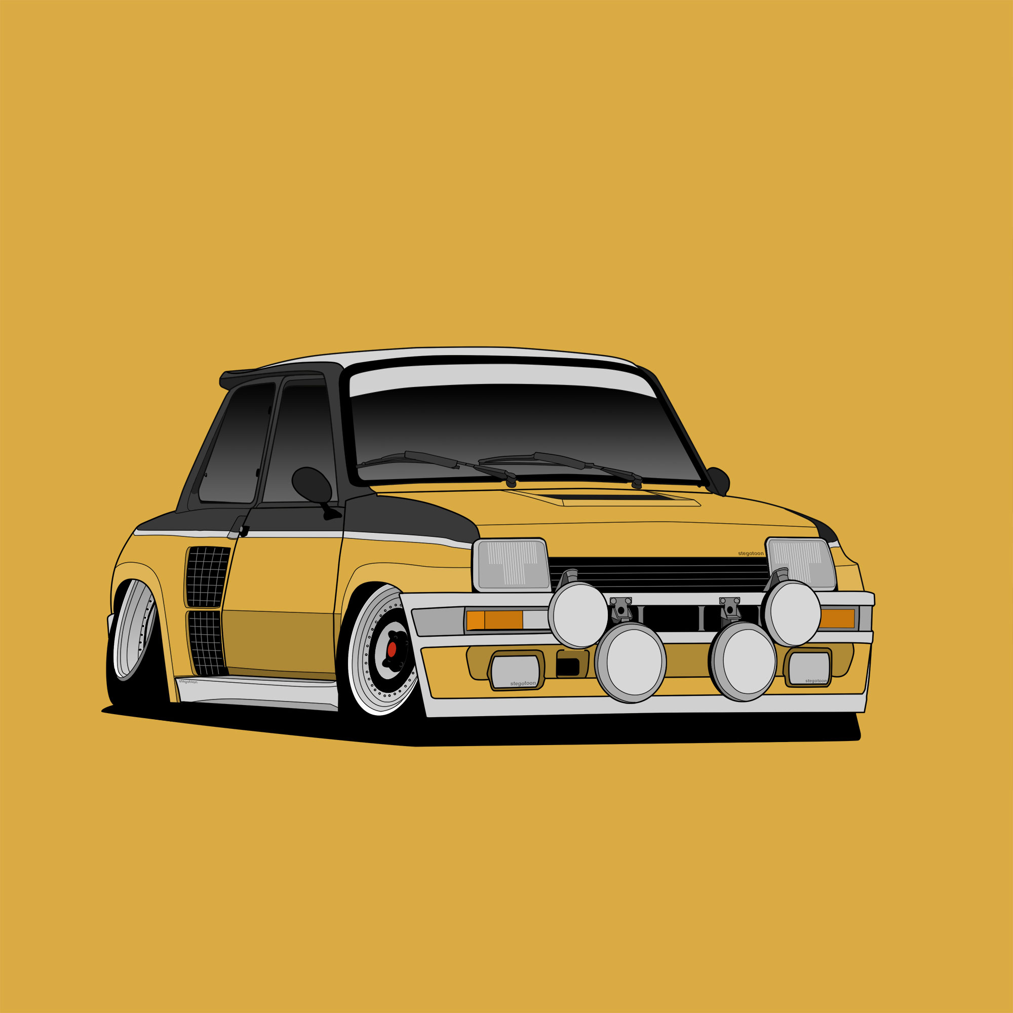 Renault 5 Turbo - CARtoon - stegotoon
