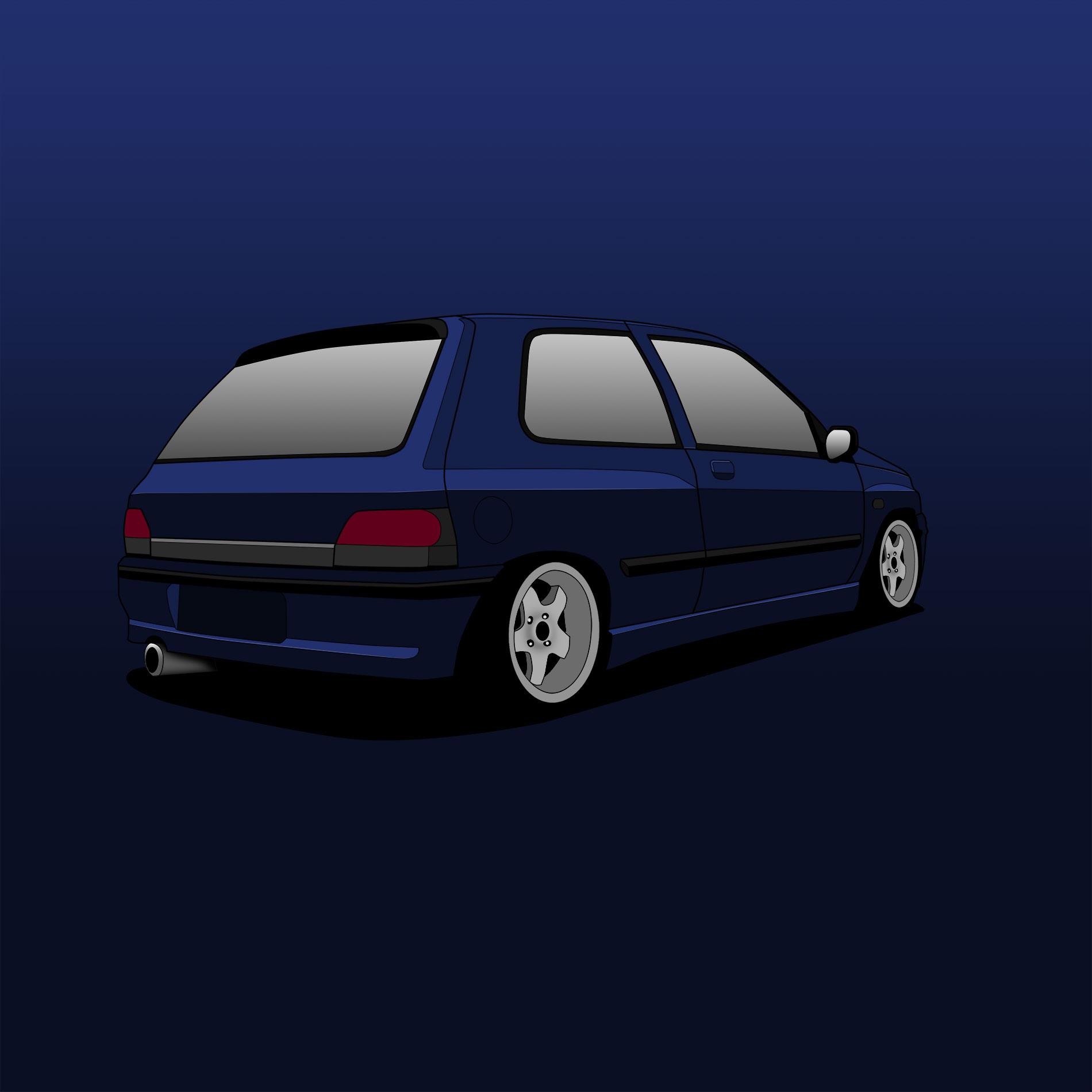 Renault Clio 1 16V – CARtoon – stegotoon