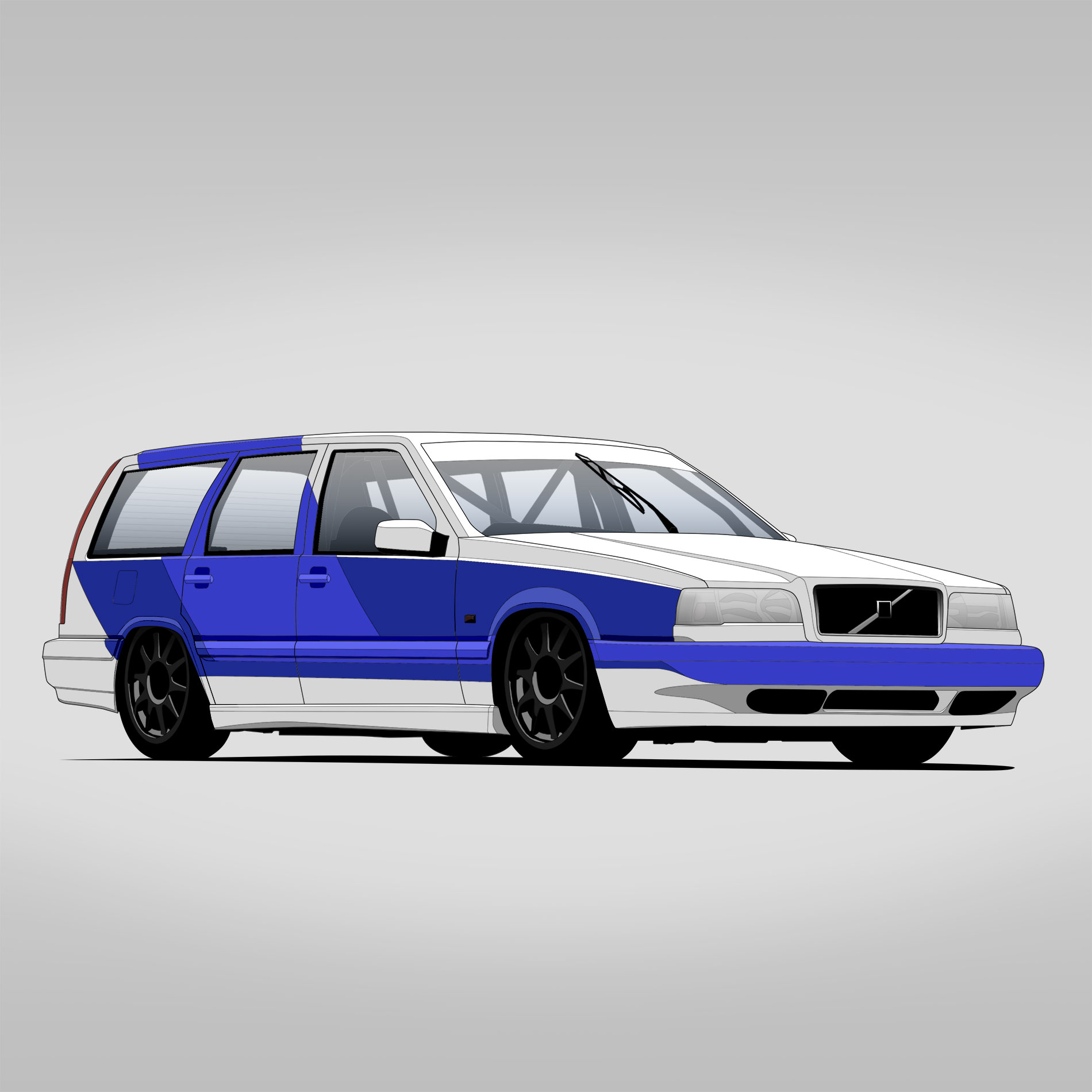 Volvo 850 BTCC – CARtoon – stegotoon